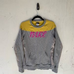 Nike Gray Pullover Running Long Sleeve Sweater